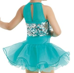 Emerald green dance/play costume